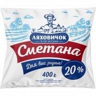 Сметана «Ляховичок» 20%, 400 г.
