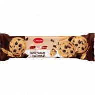 Печенье сдобное «Chocolate & Wheat» шоколад и пшеница, 145 г.