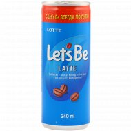 Напиток кофейный «Let's Be» латте, 240 мл.