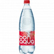 Вода питьевая газированная «Bonaqua» малина 1 л.