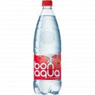 Вода питьевая газированная «Bon-aqua» малина 1 л.