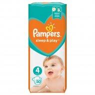 Подгузники «Pampers» Sleep & Play 9-14 кг, 4 размер, 50 шт.