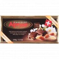 Горький шоколад «Alprose» c цельным миндалем, 100 г.