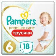 Трусики-подгузники «Pampers» Premium Care, 15+ кг, 18 шт.