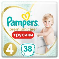 Подгузники-трусики «Pampers Premium» размер 4, maxi 9-15 кг, 38 шт.