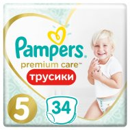 Трусики «Pampers» Premium Care, 12-17 кг, размер 5, 34 шт.