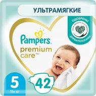 Подгузники «Pampers» Premium Care, размер 5, 11+ кг, 42 шт.