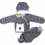 Комплект детский (ползунки, распашонка, чепчик) 22031, размер: 56-36.
