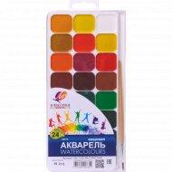 Акварель «Классика» 24 цвета с кистью.