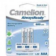 Аккумуляторы «Camelion» Always Ready, AAA-600mAh Ni-Mh, BL-2, 2 шт