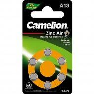 Комплект батареек «Camelion» Mercury Free, ZA13 BP6, 1.4V, 12824, 6 шт