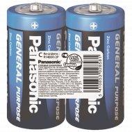 Элемент питания «Panasonic» General Purpose R14, C, солевой, 2 шт.