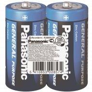 Элемент питания «Panasonic» General Purpose R20, D, солевой, 2 шт.