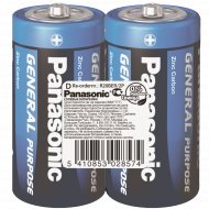 Элемент питания «Panasonic» General Purpose R20, D, солевой, 2 шт.