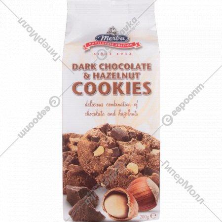 Печенье «Merba» с фундуком и горьким шоколадом, 200 г.
