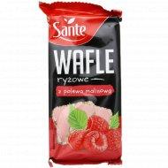Рисовые вафли «Sante» в малиновой глазури, 66 г.