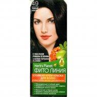 Стойкая крем-краска для волос «Herb's Planet» тон 49, темный каштан.