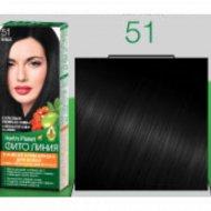 Стойкая крем-краска для волос «Herb's Planet» тон 51, черный.