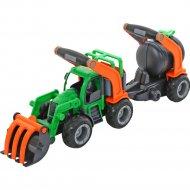 Трактор погрузчик «ГрипТрак» с цистерной.