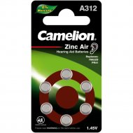 Комплект батареек «Camelion» Mercury Free, ZA312 BL6, 12825, 6 шт