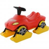 Каталка-автомобиль «Пожарная команда» со звуковым сигналом.