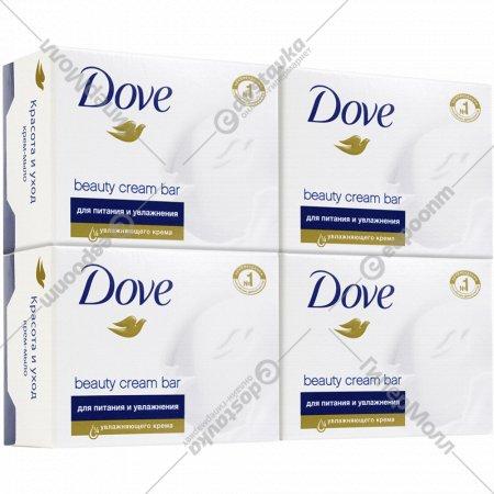 Крем-мыло «Dove» красота и уход, 4х100 г.
