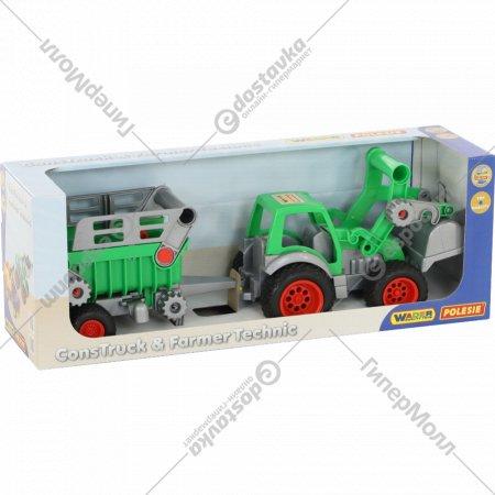 Трактор-погрузчик «Фермер-техник» с полуприцепом №2.
