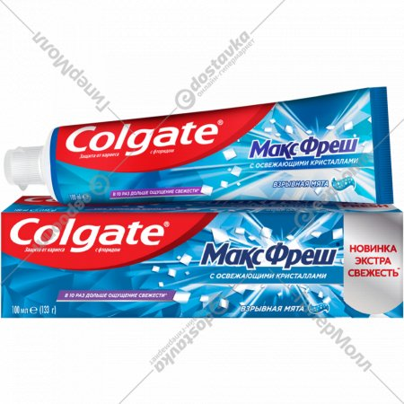 Зубная паста «Colgate» с освежающими кристаллами, 100 мл.