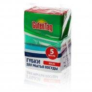 Губка для мытья посуды «Guten Tag» 9.6x6.4x2.7 см, 5 шт.