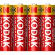 Комплект батареек «Kodak» Extra Heavy Duty, KAAHZ-S4 R6, Б0005141, 4 шт