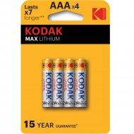Комплект батареек «Kodak» MAX FR03-4BL L92 LITHIUM, Б0046505, 4 шт