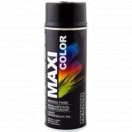 Эмаль-аэрозоль «Maxi color» универсальная, черная глянцевая, 400 мл.