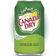 Напиток сильногазированный «Canada Dry Ginger Ale» 0.33 л.