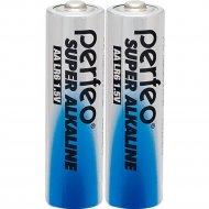 Комплект батареек «Perfeo» Super Alkaline, LR6/2SH, PF LR6/2SH, 2 шт