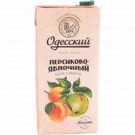 Нектар «Одесский» персиково-яблочный с мякотью, 1.93 л.