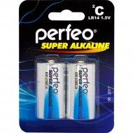 Комплект батареек «Perfeo» Super Alkaline, LR14/2BL, PF LR14/2BL, 2 шт