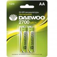 Комплект аккумуляторов «Daewoo» АА 2700mAh NI-MH BL-2, 1037404, 2 шт