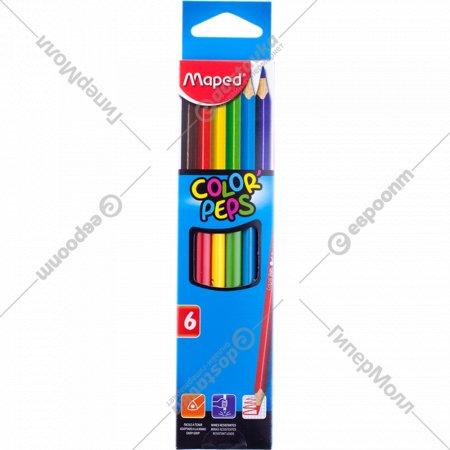 Карандаши цветные «Maped» Color Peps, 6 шт