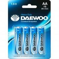 Комплект батареек «Daewoo» Heavy Duty R6, 4 шт