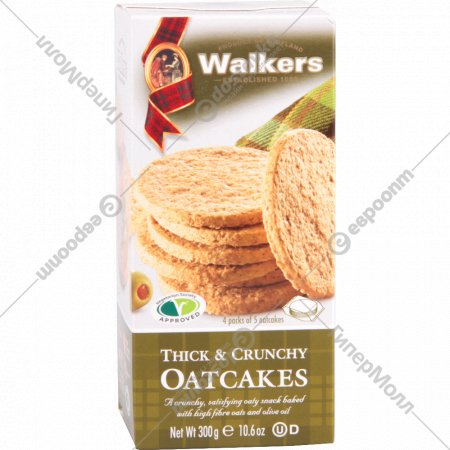 Овсяное печенье «Thick&Crunchy Oatcakes» 300 г