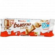 Вафли в белом шоколаде «Kinder» Bueno с молочно-ореховой начинкой, 39 г.