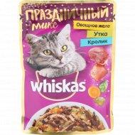 Корм для кошек «Whiskas» с уткой, кроликом и овощами в желе, 85 г.