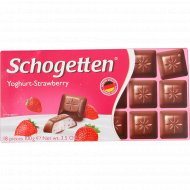 Шоколад «Schogetten Yoghurt-Strawberry» клубника, 100 г.