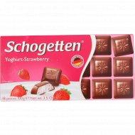 Шоколад «Schogetten Yoghurt-Strawberry» клубника, 100 г.