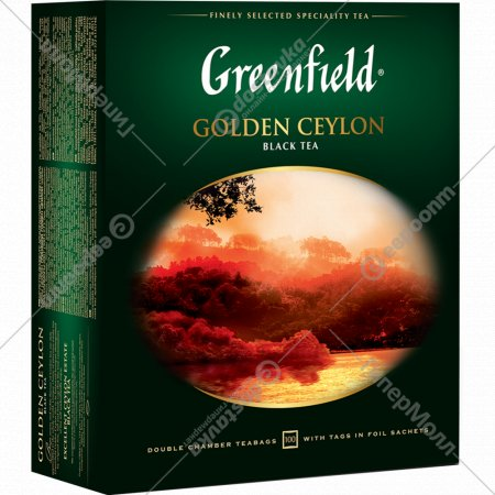 Чай чёрный «Greenfield» Golden Ceylon 100 шт. Х 2 г.