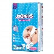 Подгузники «Joonies» размер M, 6-11 кг, 58 шт.