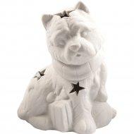 Статуэтка «Belbohemia» Новогодняя собачка, светящаяся, 7х6.5х10 см.