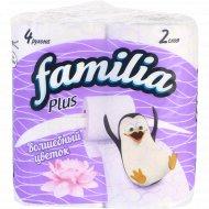 Бумага туалетная «Familia Plus» белая с рисунком, 4 шт.