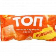 Мороженое сливочное «Топ» соленая карамель и арахис, 70 г.