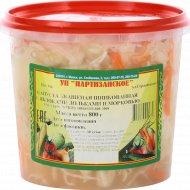Капуста квашеная «Партизанское» с морковью и яблоками дольками, 800 г.